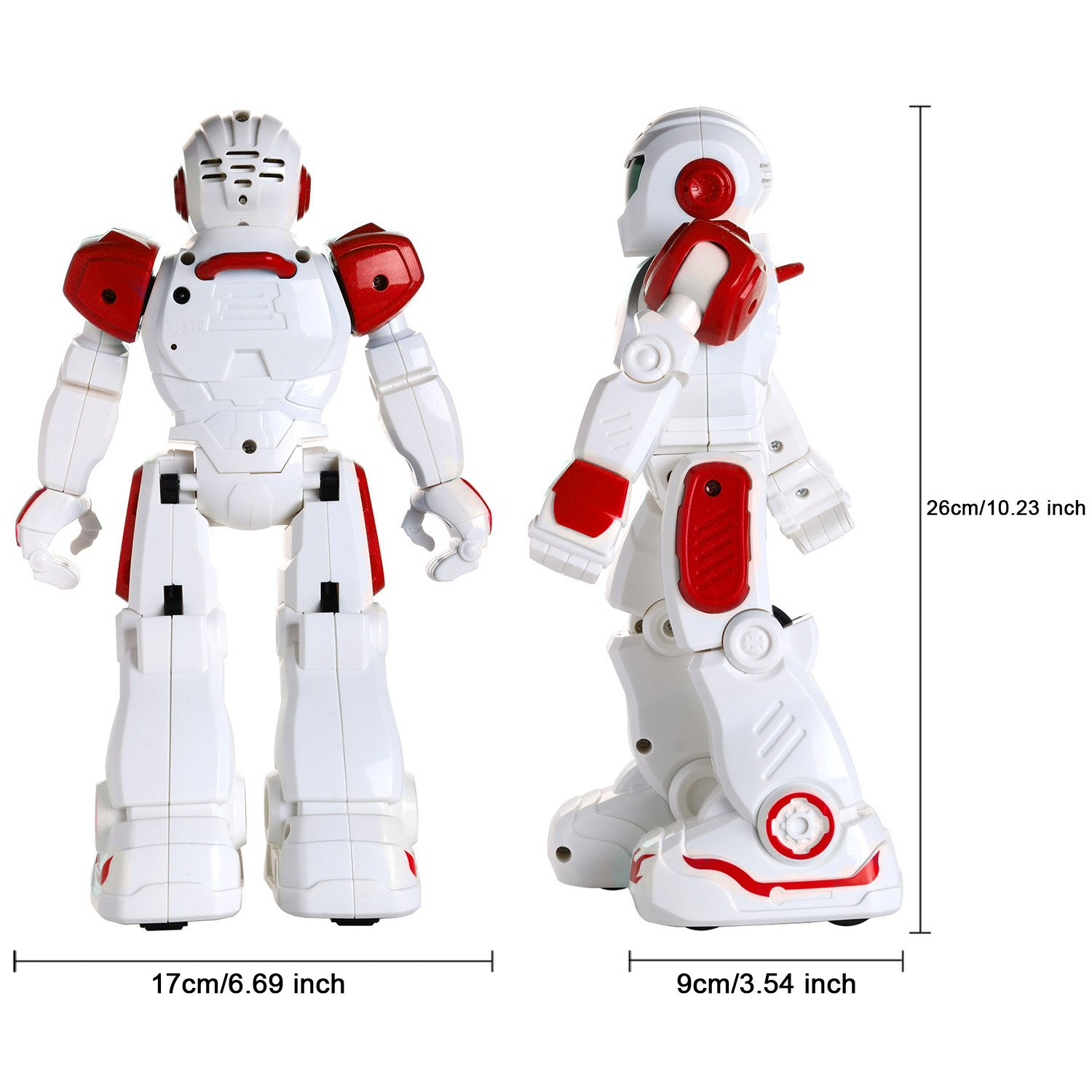 Glantop Remote Control RC Robots Interactive Walking Singing Dancing Smart Programmable Robotics for Kids Boys Girls (Red) by Glantop (Image #6)