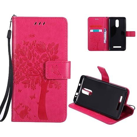 OuDu Funda XiaoMi RedMi Note 3 Carcasa de Billetera Funda PU Cuero para XiaoMi RedMi Note 3 Carcasa Suave Protector - Rosa Caliente
