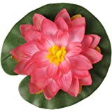Artif-deco - Lotus nenuphar flottant fuschia d 20 cm en sachet