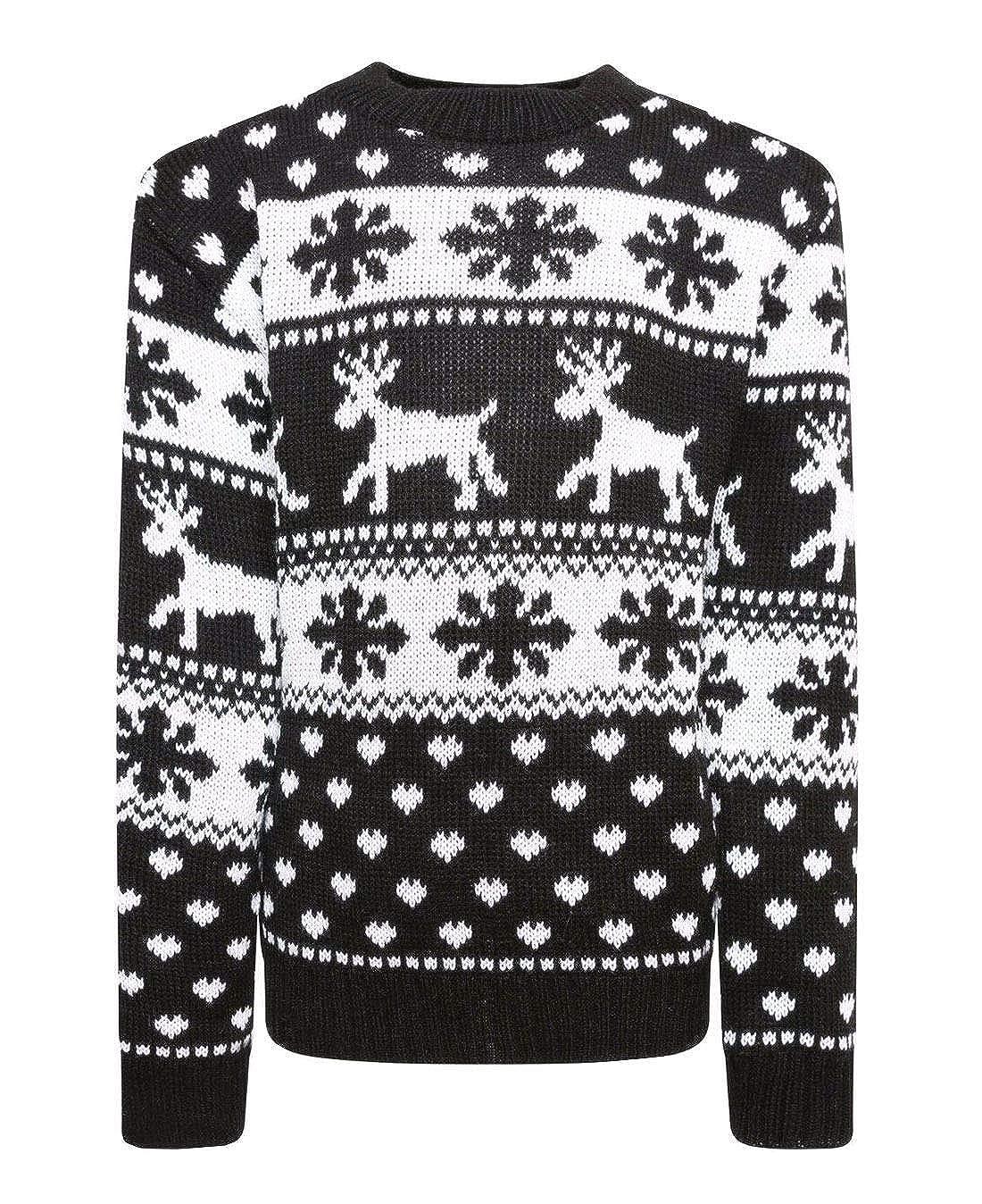 Children Kids Fancy Christmas Novelty Boys Girls Dress Party Rudolf Knitted Jumper 5-12 Years