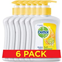 Dettol Fresh Hand Wash - Pack of 6 Pcs (6 x 200ml)
