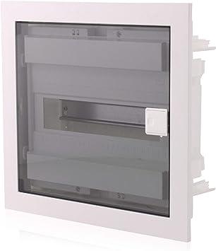 Caja de fusibles empotrada | 1 fila | para 12 módulos | IP40 | con puerta transparente: Amazon.es: Bricolaje y herramientas