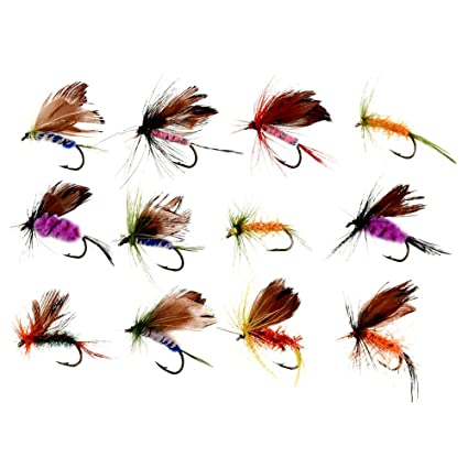 12pcs Fishing Flies Fly Fishing Lures Set Artificial Shrimp Insects Lures