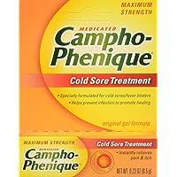 Campho-Phenique Cold Sore Treatment, Maximum Strength, Original Gel Formula, Orange, No Flavour, 0.23 Oz