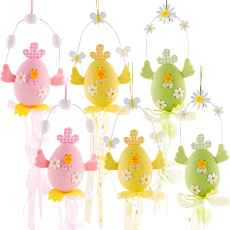 Amazon Com Easter Hanging Chicks Colorful Easter Chenille Chicks