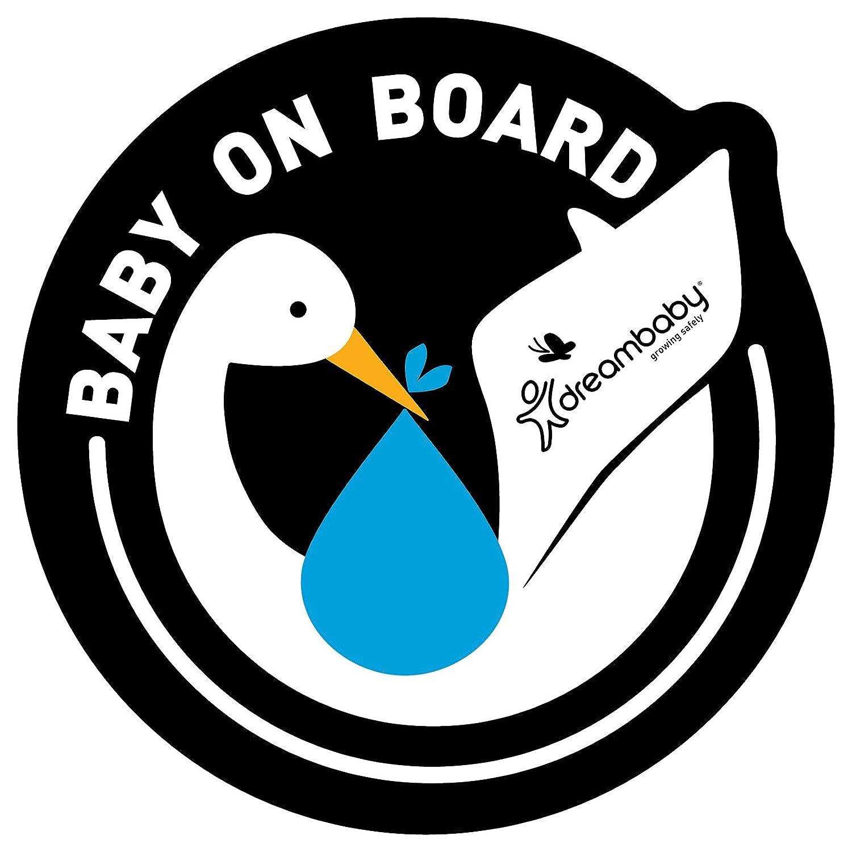 Dreambaby Baby on Board adhésif autocollant (Bleu, Lot de 2) F288