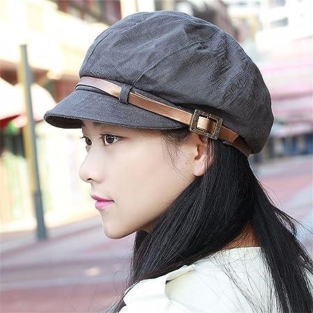 Women ladies In summer and autumn octagonal cap flanging Lady Fashion Hat  Beret peaked cap fashion hat hats 5b8cfa79da2