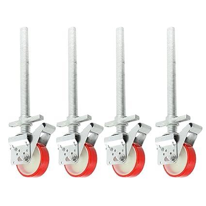 Spares2go ajustable de andamio piernas y ruedas rueda seguridad para andamiaje (4 unidades)