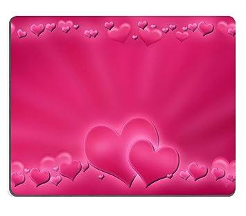 amazon co jp マウスパッドピンクバレンタインの背景with hearts