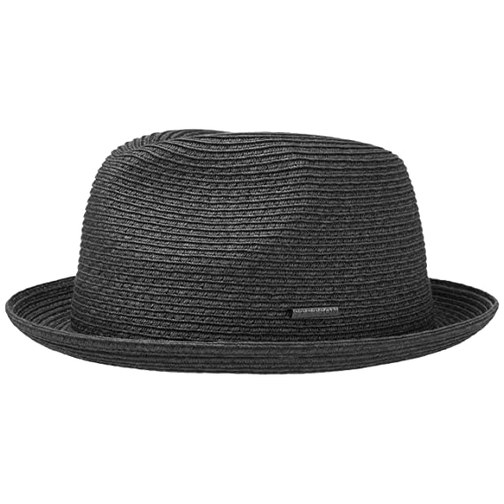 bb4cdc396fb4ef Stetson Dawson Black Player Hat Straw Sun Beach (XL (60-61 cm) - Black):  Amazon.co.uk: Clothing