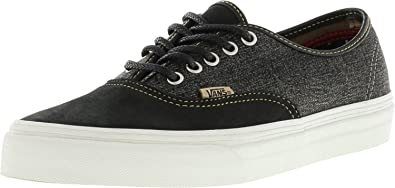 6f63fc7cc9 Vans Authentic + Utilitarian Black Blanc De Ankle-High Canvas Skateboarding  Shoe - 8.5