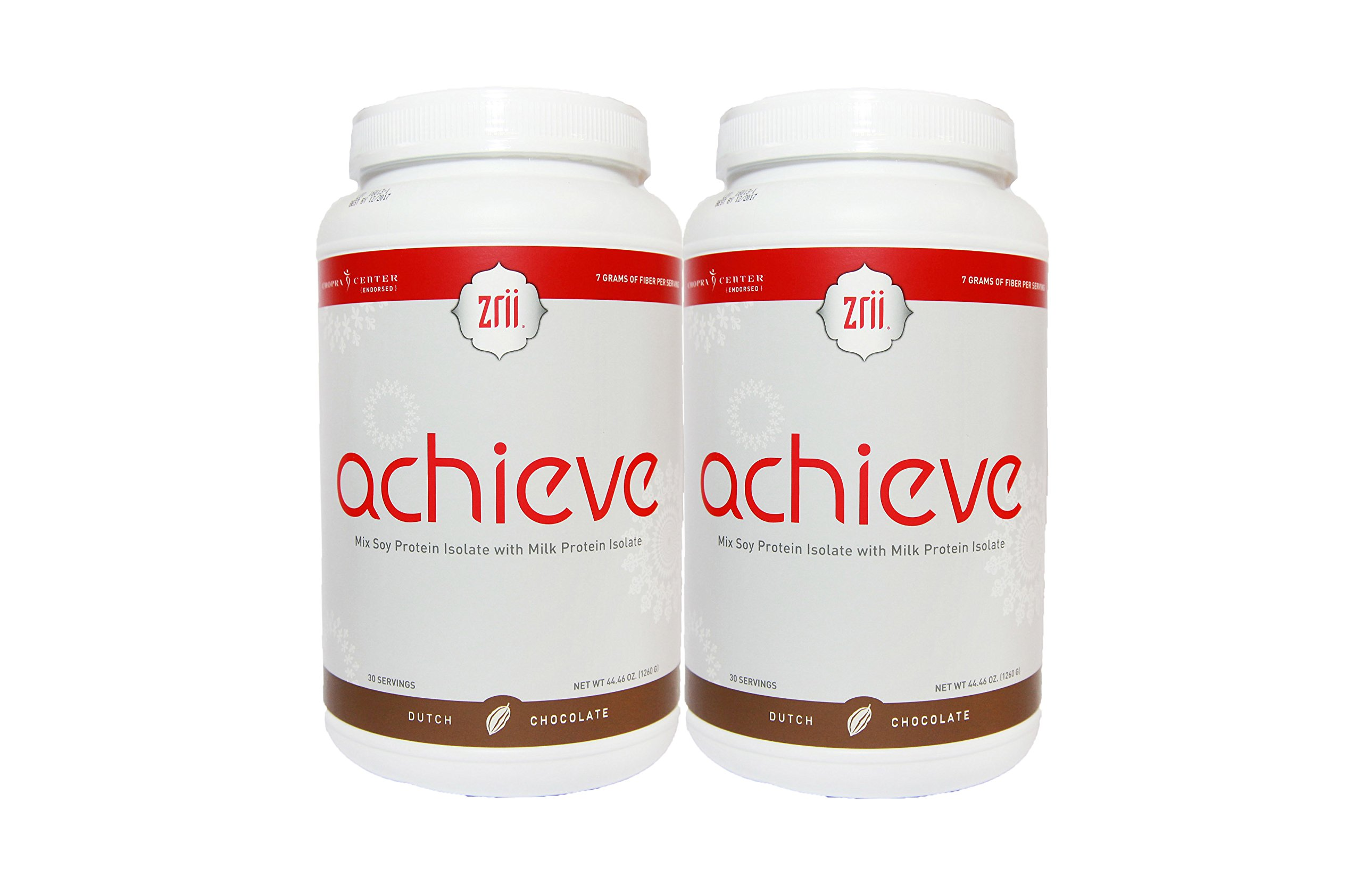Zrii Achieve (Dutch Chocolate) Meal Replacement 2 Bottles Mix Soy Protein Isolate with Milk Protein Isolate