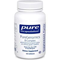 Pure Encapsulations - PureGenomics B-Complex - Broad Spectrum B Vitamin Support for Common Genetic Variations* - 120 Capsules