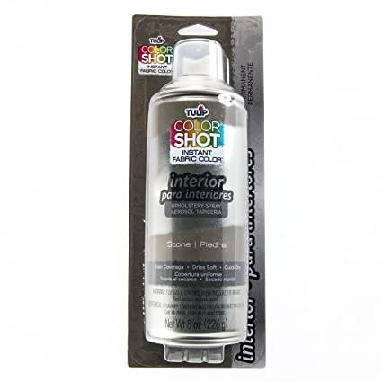 Amazon.com: Tulip ColorShot Instant Fabric Color Interior Upholstery Spray 8 oz - Stone