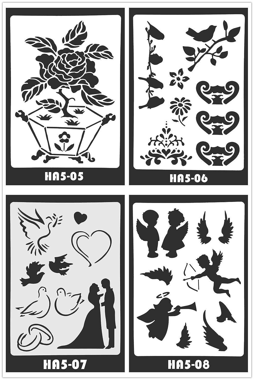 Ai-life 10 piezas plástico dibujo plantillas de pintura con mariposa ...