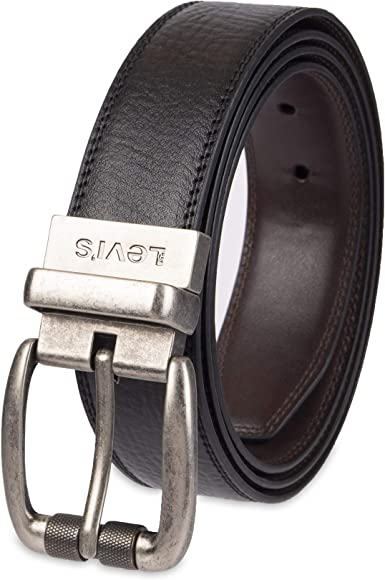 Reversible Leather Belt Crimson
