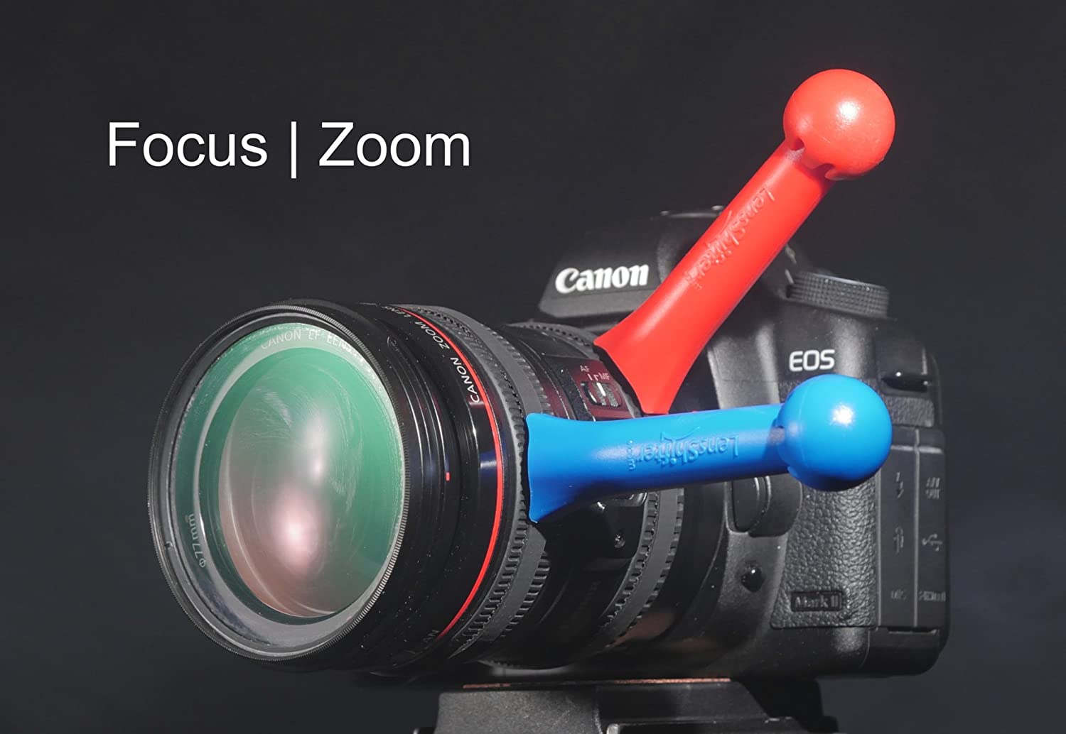 Balanced Focus and Zoom Grip for DSLR and Mirrorless Camera Lens Red LensShifter Pro Red