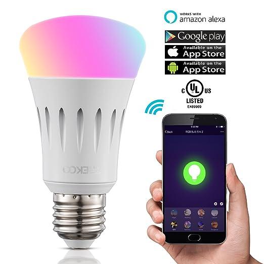 Trekoo Smart Led Wifi Lampade 7 W Dimmerabile Multicolore Rgb Led