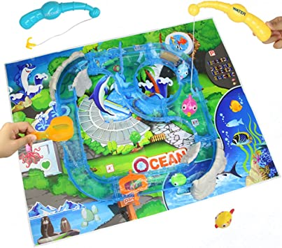 Juegos de Agua, Mesa del Playset, Juego de Pesca para Playa Tubería para Niños 3 4 5 6 Años: Amazon.es: Juguetes y juegos