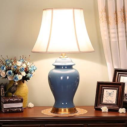 Amazon.com: Fashion Art Generals Ceramic Copper Desk Lamp ...