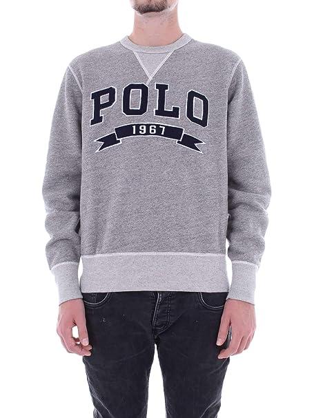 Polo Ralph Lauren Sudadera Vintage Fleece Gris: Amazon.es: Ropa y ...