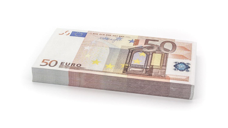 100 x €50 EURO Cashbricks dinero de juguete (reducidos al 75 % del tamaño original) EURO-50-75