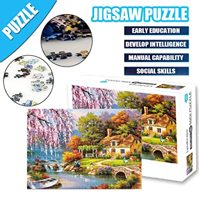 Jigsaw Puzzle Toys, Adults Puzzles 1000 Piece Landscape Puzzle Game Interesting Toys 16.5x11.7 Inch Easter and Eid Gifts: Toys & Games