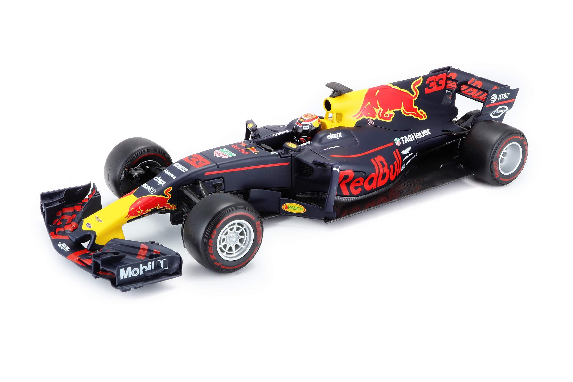 Bburago 1:18 Red Bull Racing Tag Heuer RB13 (2017 Max Verstappen/Daniel Ricciardo Model), Blue