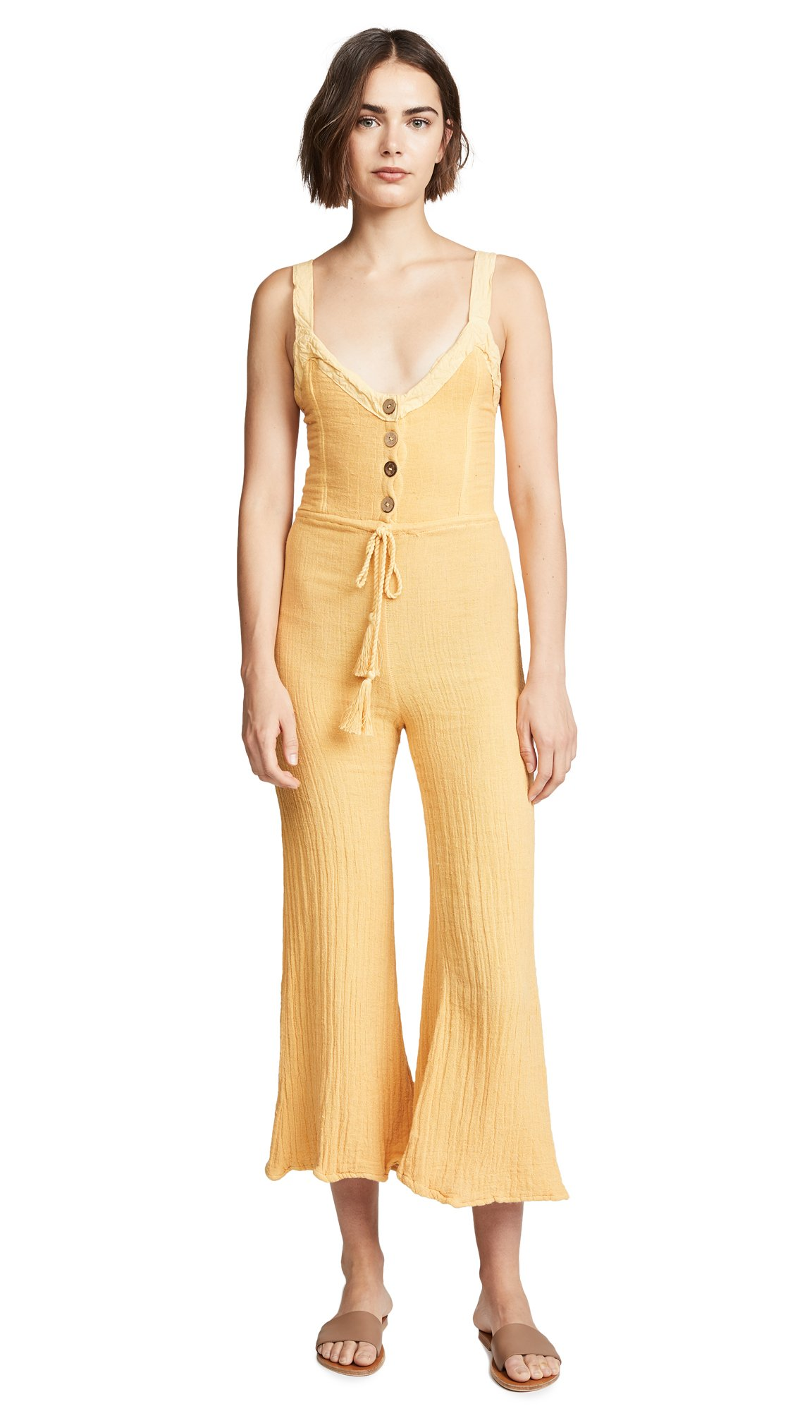 Jen's Pirate Booty Women's Giant Daisy Jumpsuit, Gold, X-Small
