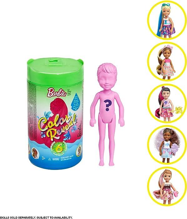 Barbie Chelsea Color Reveal Foodie Series Dolls [Styles May Vary]