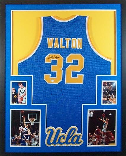 1f7053828 Bill Walton UCLA Bruins Autograph Signed Custom Framed Jersey JSA Witnessed  Certified
