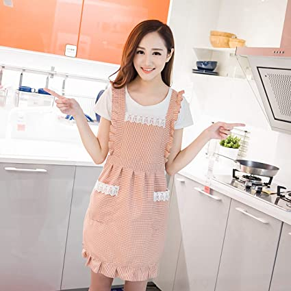 High-end Korean Fashion Simple Cotton Aprons Coffee Shop Beauty Salon Restaurant Work Cloth Home Kitchen Apron Home