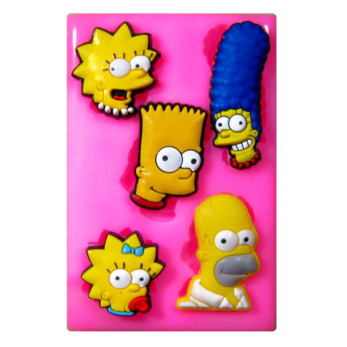 Familia de los Simpson Moldede silicona para la torta de Decoraciónhttps://amzn.to/2IjHLoy