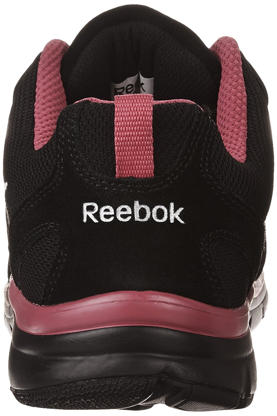 Reebok Work Women's Anomar RB454 Athletic Safety Shoe B01N6HOUA5 5.5 B(M) US|Black and Pink w/Silver Trim