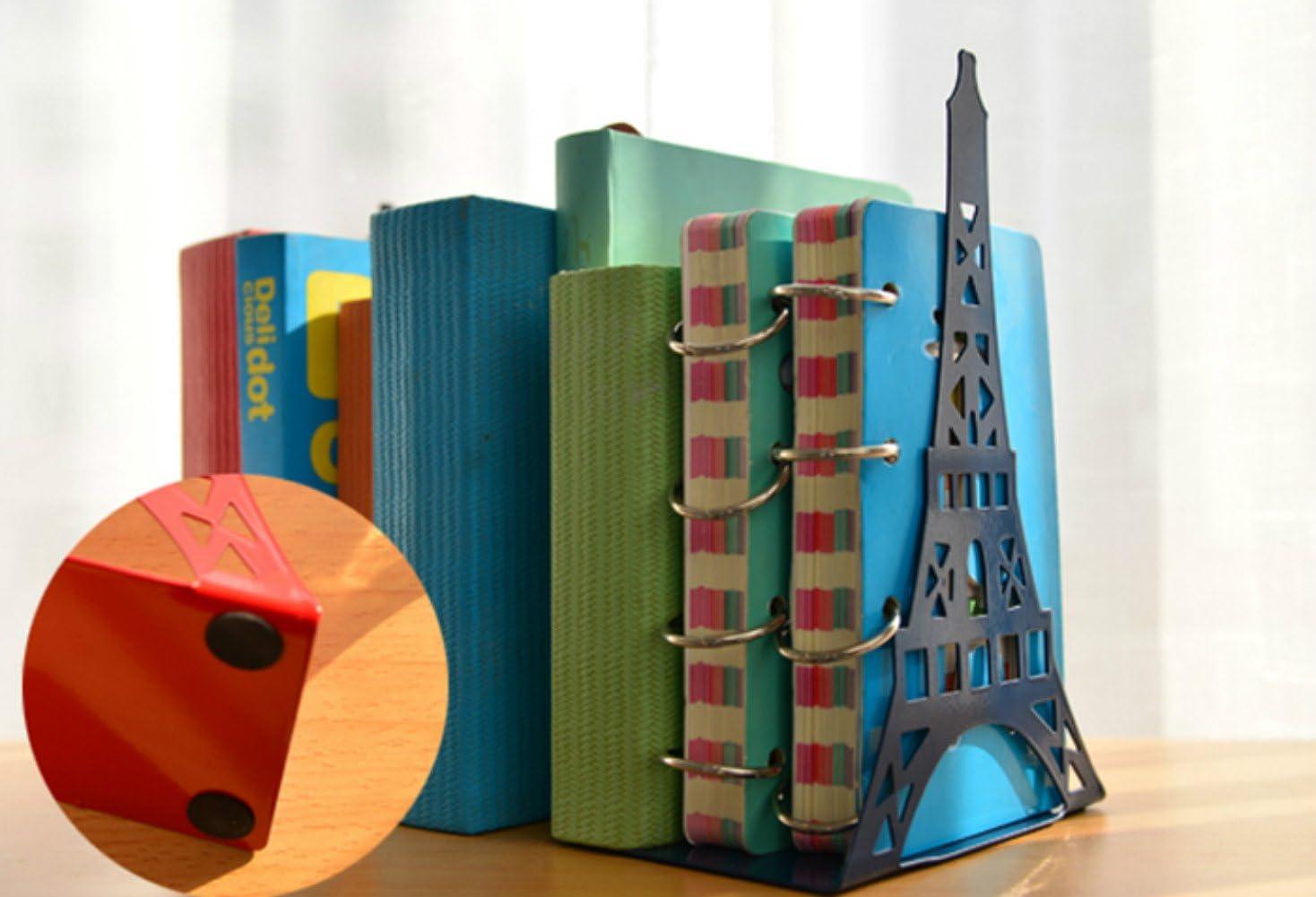 Noir Serre-livres 2/pcs//Paire Mode Motif Tour Eiffel Biblioth/èque Grande Serre-livres en m/étal support de bureau support pour livres Organiseur Cadeau Fournitures de bureau