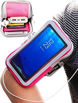 iMangoo Galaxy S8 Funda, Universal teléfono Celular Funda Samsung S10 Plus Cinta de Correr Deportes al Aire Libre Brazalete Galaxy S9 Gimnasio Tarjeta de Bolsillo Bolsa de muñeca Pantalla táctil: Amazon.es: Electrónica