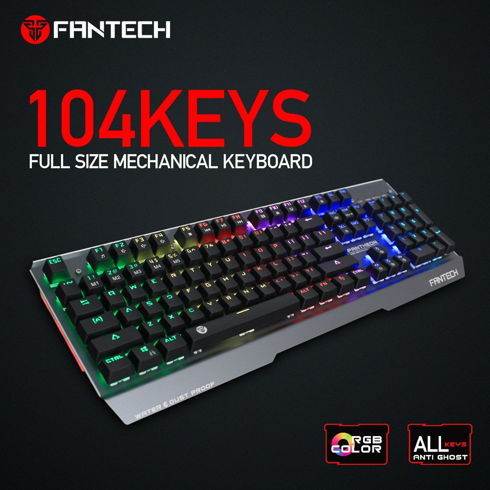 f28709dad01 Amazon.com: FANTECH Mechanical Gaming Keyboard, RGB Backlit Clicky Computer  Mechanical Keyboard for PC, Laptop,Rainbow LED Modes with & Software Suite  for ...