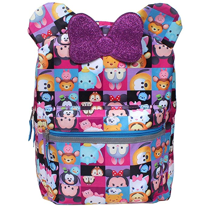 f3ae21abf0 Image Unavailable. Image not available for. Color  Disney Tsum Tsum All  About The Ears 16 inch Backpack