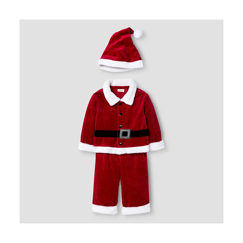 3-6M Baby Boys 3 Piece Santa Set Red Cat /& Jack Baby