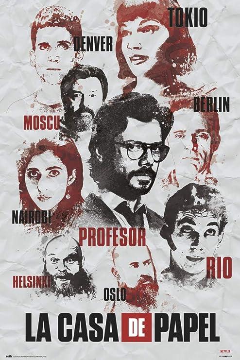Poster La Casa De Papel Personajes: Amazon.es: Oficina y papelería
