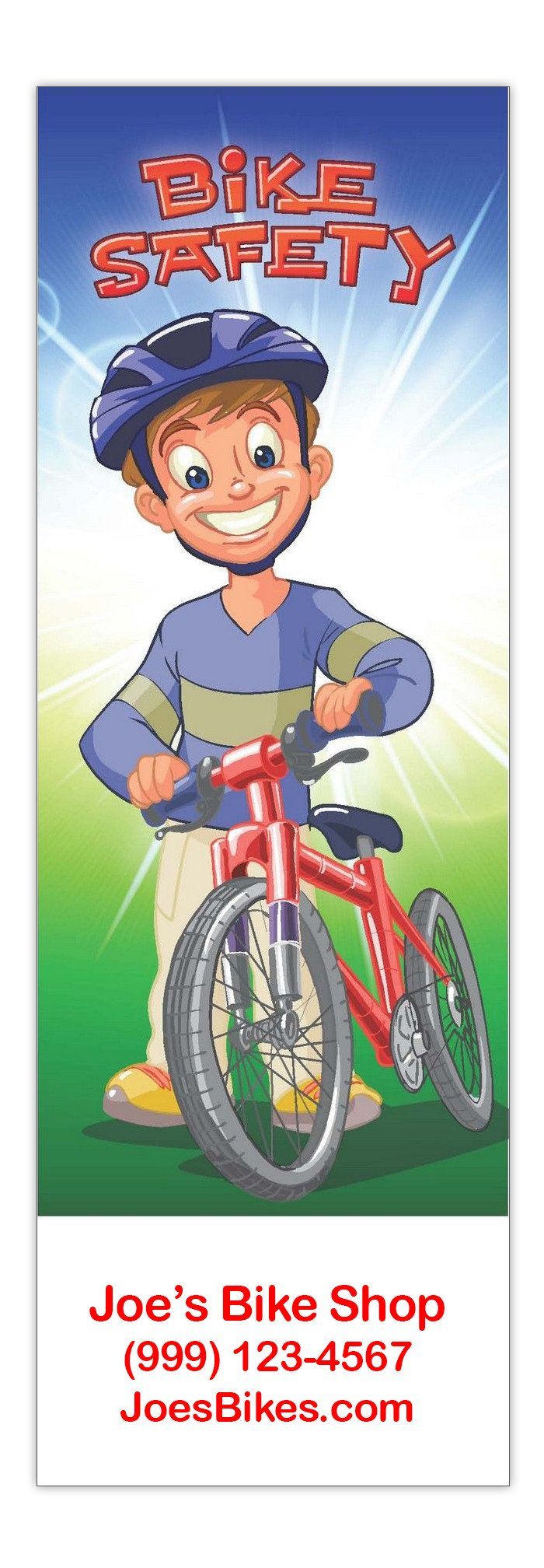 Bike Safety Bookmarks in Bulk (Qty of 250) - Promotional Item - Customize with your Information - Great for Mailings