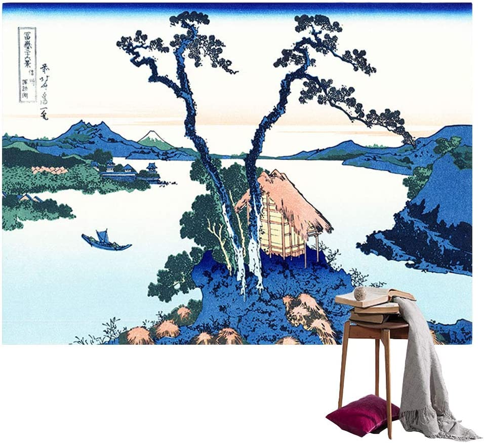 Japanese Oriental Lady Beach Wall Picture Art Print