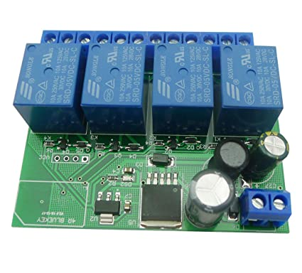 Amazon com: Aihasd 4 Channel 12V Relay Module Bluetooth 4 0 BLE