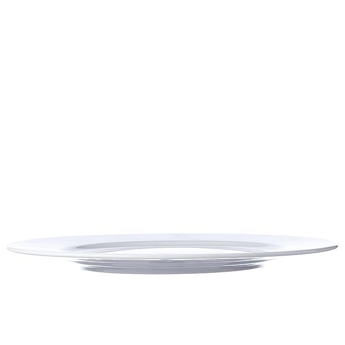 6 piezas Cena/sopa/juego de platos de postre, blanco porcelana, restaurante y Hotel calidad (10.6