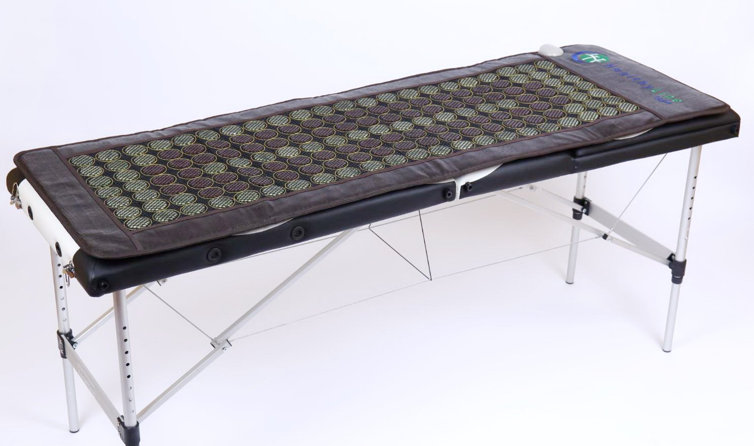 HealthyLine Far Infrared Heating Mat 72''x24'' Relieves Sore Muscles, Joints, Arthritis Natural Jade & Tourmaline with Negative Ions InfraMat Pro Most Flexible Model-Easy to roll-up(Light & Firm) by HealthyLine (Image #5)