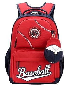 BAIJIAWEI - Backpack for School Mochilas Escolares Impermeable para Niños School Bag con 2 Compartimentos 32 x 43 x 13cm - Rojo - 8-12 Años: Amazon.es: ...