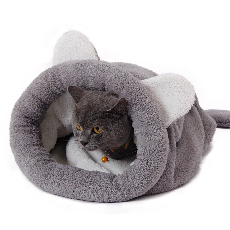 Speedy Pet Saco de dormir del gato Saco autoalmacenante del gatito 20 at Sleeping Bag Self-Warming Kitty Sack 20 ( Color : Grey )