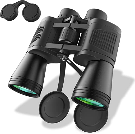 Zvpod 12 x 50 Binoculars for Adults - Wide Angle Weak Light Night Vision Compact Lightweight HD Bird Watching Waterproof for Outdoor Sports Games Concerts Travel Hiking w/Strap Carrying Bag