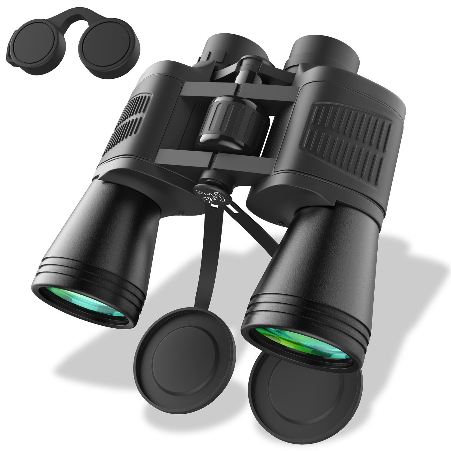 Zvpod 12 x 50 Binoculars for Adults – Wide Angle Weak Light Night Vision Compact Lightweight HD Bird Watching Waterproof for Outdoor Sports Games Concerts Travel Hiking w Strap Carrying Bag