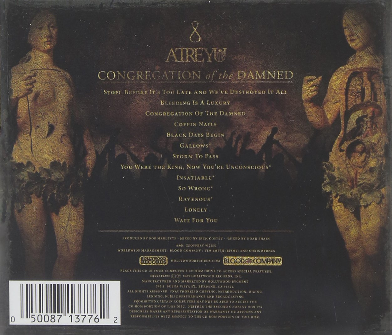 cd atreyu congregation of the damned